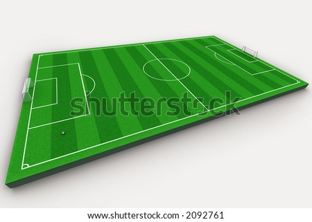 A soccer pitch