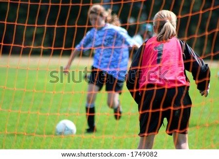 a soccer shot - stock photo