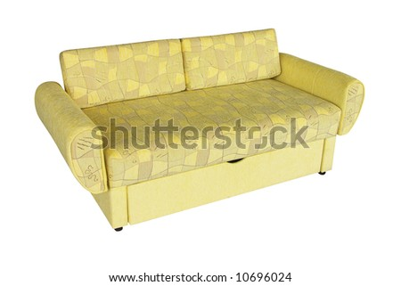 A sofa isolated on a white background with clipping path