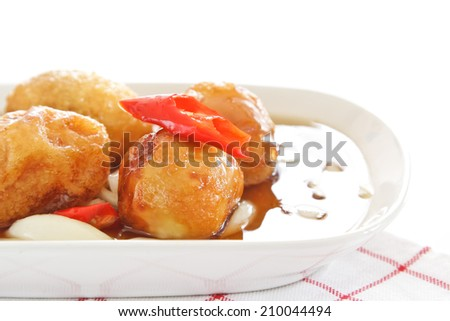 A special egg thai dished/Fried Egg. - stock photo