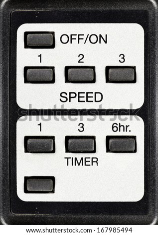 A speed and timer universal remote control.