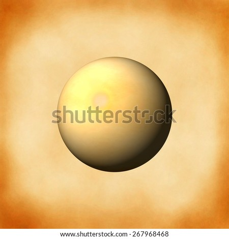 A sphere bulild from an old paper background. - stock photo