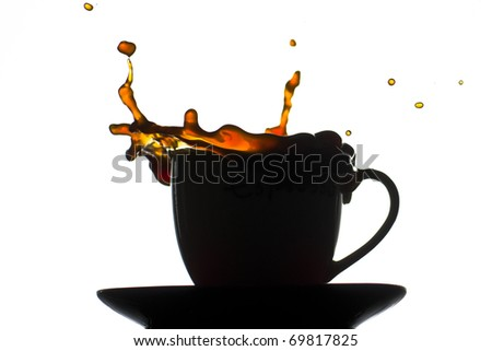 A splash from a coffee cup - stock photo