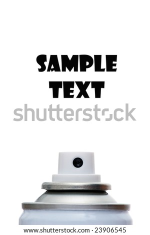 A spray can isolated on a white background - stock photo