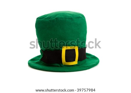A St. Patrick's day costume hat of a leprechaun - stock photo