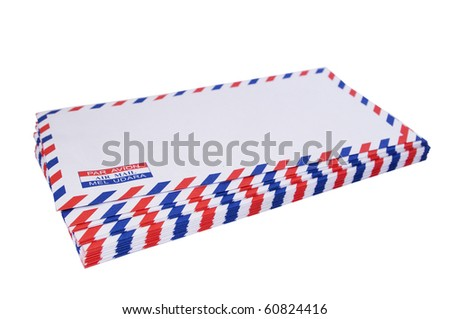 a stack of air mail, jpg comes with clipping path.