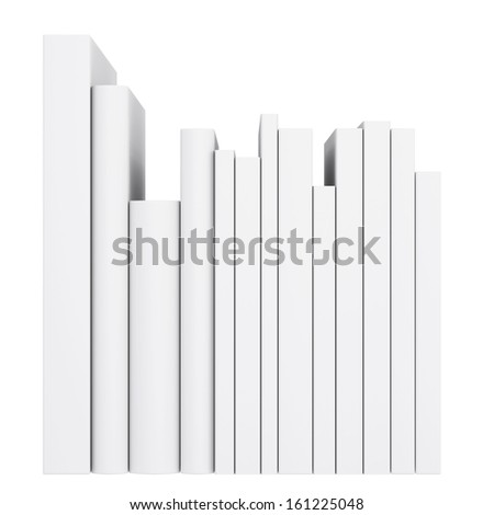 A stack of books. Isolated render on a white background - stock photo