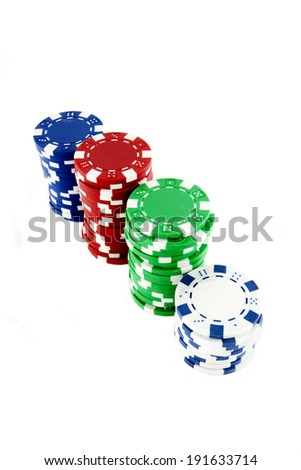 A stack of chips against a white background