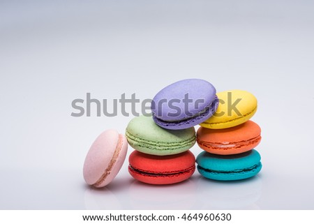A stack of colorful macaroons
