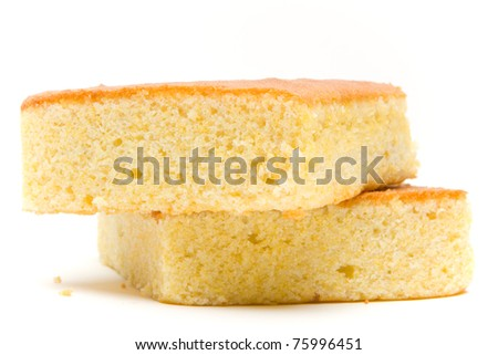 A stack of corn bread slices