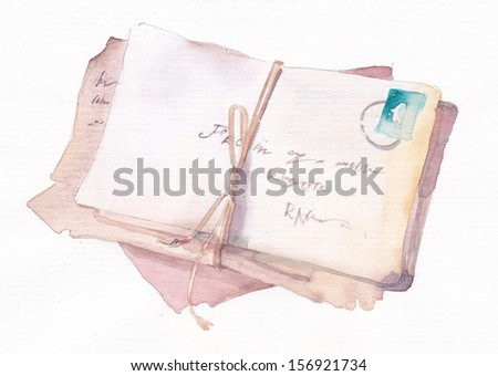 A stack of envelopes - stock photo