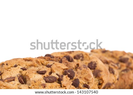 A stack of freshly baked Chocolate Chip Cookies
