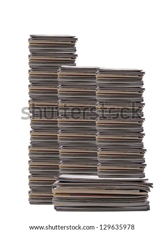 A stack of magazines