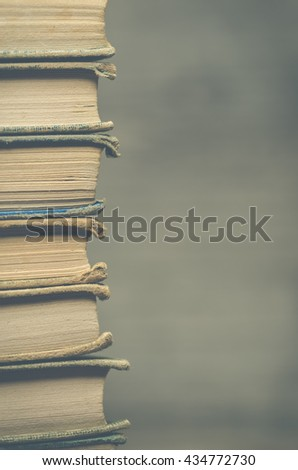 A stack of old books
