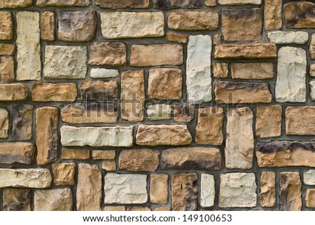 A stacked stone wall texture