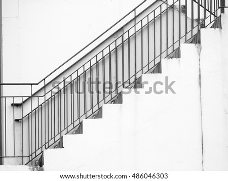 A staircase on the external wall of an urban building