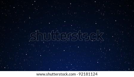 A starry night sky. - stock photo