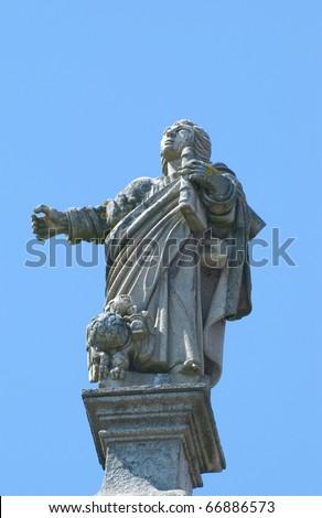 A statue of a professor, in Porto, Portugal - stock photo
