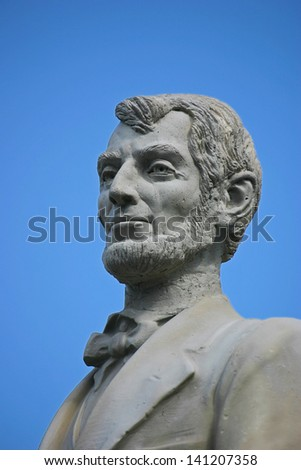 A statue of Abraham Lincoln located in San Juan, Puerto Rico - stock photo