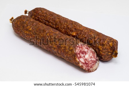 A stick of sausage.