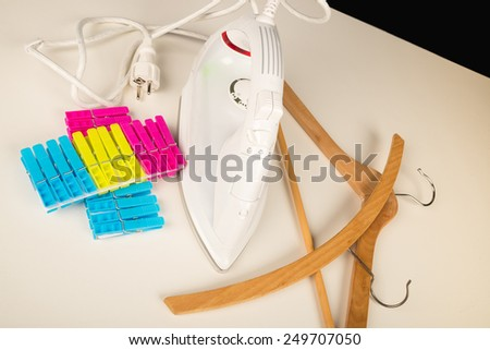 A still life with laundry related objects, a concept - stock photo