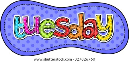 stitch style doodle typeface days week stock illustration 327826760 rh shutterstock com days of the week chart clipart days of the week clipart black and white