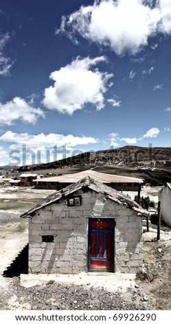 A stone building at the village of Quilotoa Ecuador