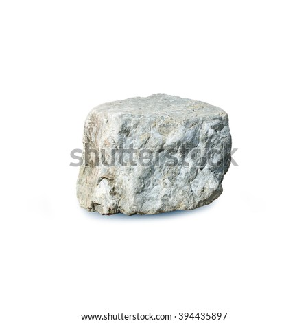 a stone on a white background