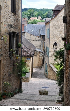 A street in Sarlat in France