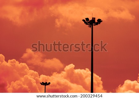 A street lamp post on the sky - stock photo