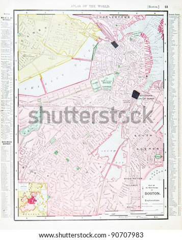 Boston Map Stock Images RoyaltyFree Images Vectors Shutterstock - Boston ma usa map