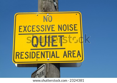 A street sign in what is hopefully a quiet residential area.