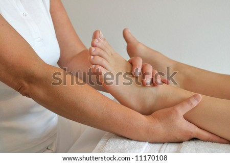 A stress relieving foot massage