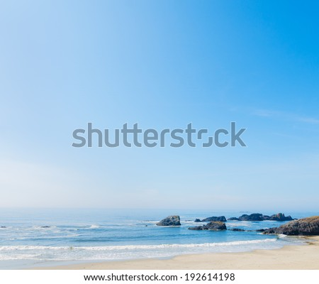 A stretch of beach along the California coastline  - stock photo