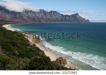 A stretch of unspoilt South African coastline