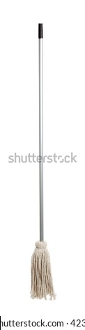 a string mop on a white background - stock photo