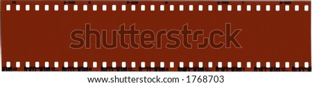A strip of unused 35mm film. - stock photo