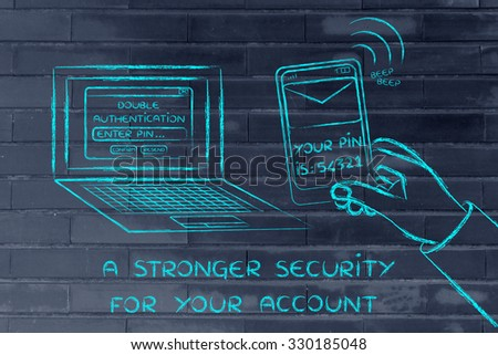 a stronger security for your account: computer and phone for double authentication