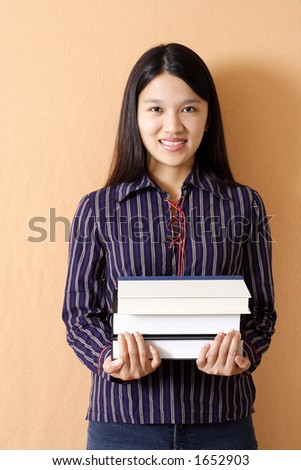 A student carrying books