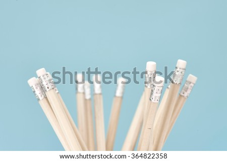A studio close up of 2b lead pencil - stock photo