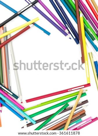 A studio close up photo of coloring pencils