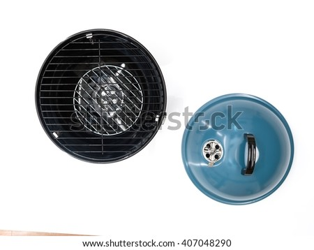 A studio photo of a bbq kettle - stock photo