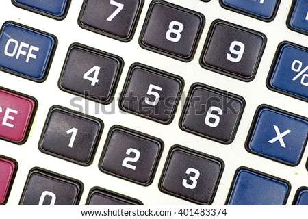 A studio photo of a business calculator - stock photo