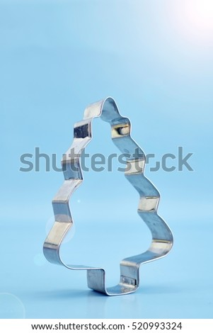 A studio photo of a christmas cookie cutter