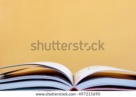 A studio photo of a hard cover book