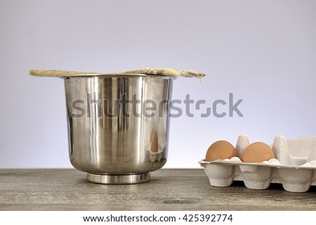A studio photo of baking items
