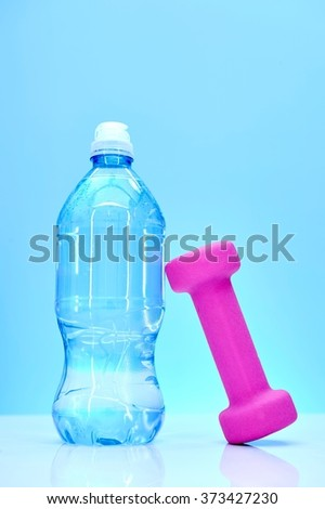 A studio photo of bottled water up close