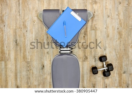 A studio photo of gym equipment