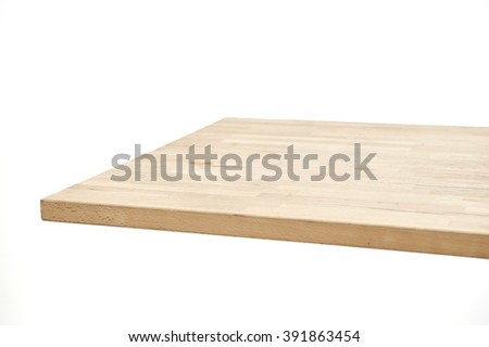 A studio photo of kitchen dining table - stock photo