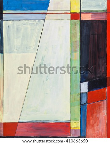 A study for a geometric abstract painting. - stock photo